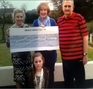 Presentation of cheque to Eileen Hearst
