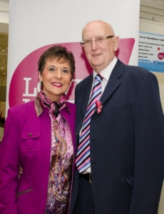 Founder Kay Duffy with Gordon who was instrumental in bringing LYL to Belfast