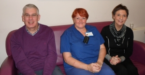 Donald and Kay with Wendy Littlejohn, Transplant Co-ordination Services