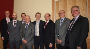 L to R Dr Cash, Dr McCorry, Dr Cadden, Professor O'Grady, Dr McDougall, Dr Callender, G Cave and Dr Heneghan.