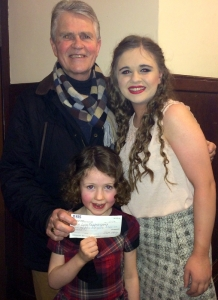 Caoimhe with 'Papa' Chris Gruhn and Lucy Duffy (Director of Another Night on Broadway)