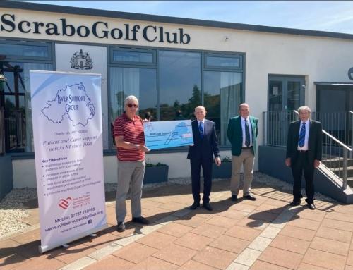 Scrabo Golf Club Cheque Presentation