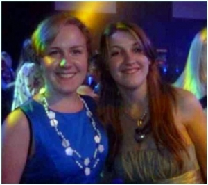 Cara and Amy at transplant games dinner