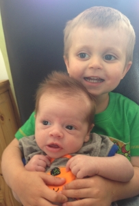 Kody with his brother
