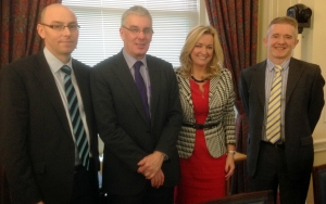 Gareth Hunter and Donald Cairnduff withJoanne Dobson MLA