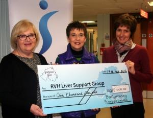 L to R Cheryl Blair, Kay Duffy and Helen Patterson, President of Ballymoney Soroptomists