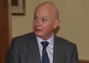 Professor John O'Grady on his last visit to Belfast