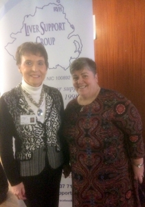 Guest speakers, l-r, Kay Duffy; Lyn Campbell