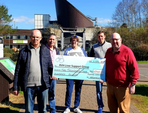 Former employees of  Wrightbus make a generous donation….